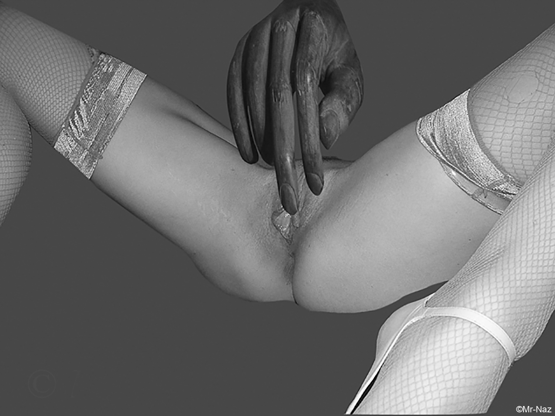 Agalmatophilia 1 Hand Partialism-Greyscale