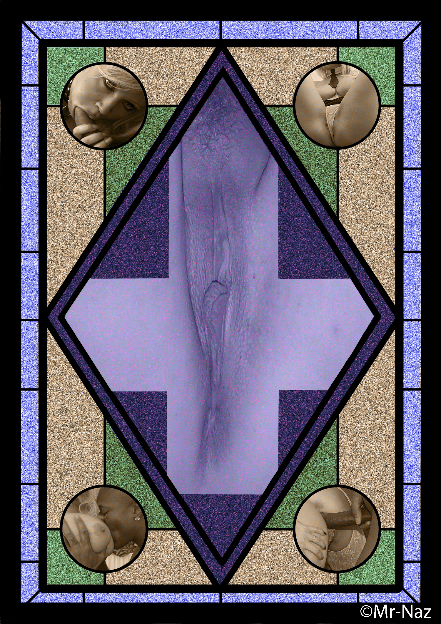 Design For  Stained Glass Window In Erotic Chapel