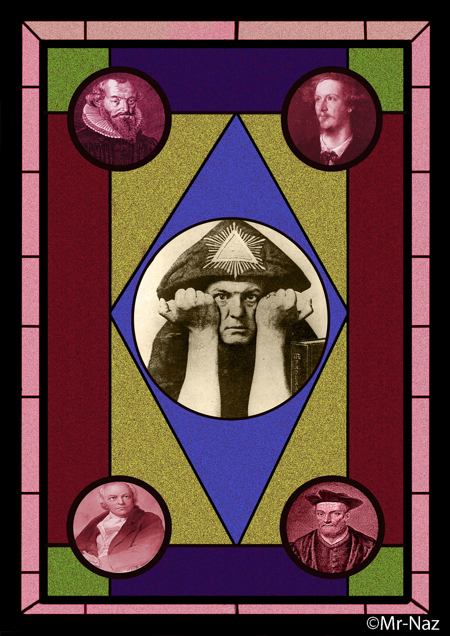 Design For Stained Glass Gnostic Window